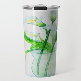 White Calla Lilies Travel Mug
