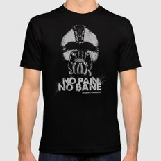 No Pain, No Bane Black Mens Fitted Tee SMALL