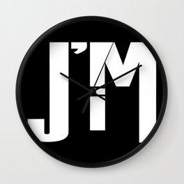 I'M JIM (white) Wall Clock
