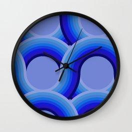 Rollin' Retro Road in Blue Ombre  Wall Clock