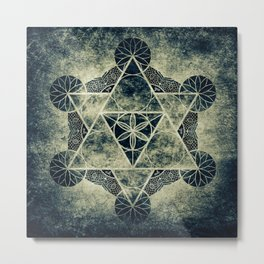 Sacred Geometry for your daily life -  Platonic Solids - IGNIS Metal Print