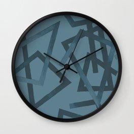 Blueprint and  Watercolor Texture 2 Wall Clock