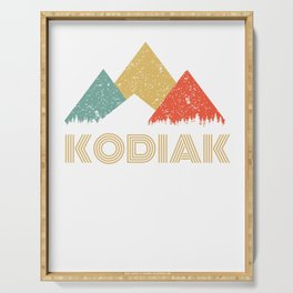 Retro City of Kodiak Mountain Shirt Serving Tray