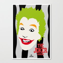 JOKER BLACK&GREY Canvas Print