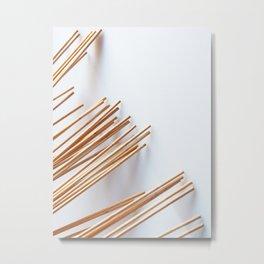 Wooden sticks Metal Print