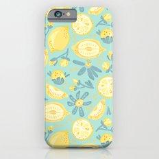 Lemon Pattern Mint iPhone 6s Slim Case