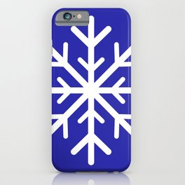 Snowflake (White & Navy Blue) iPhone Case