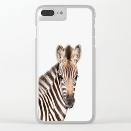 Baby Zebra Clear iPhone Case