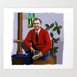 Will You Be My Neighbor Mr Rogers Fan Art Illustration Art Print
