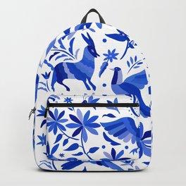 Mexican Otomí Design in Deep Blue Backpack