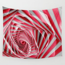 Pink Rose Spiral Wall Tapestry
