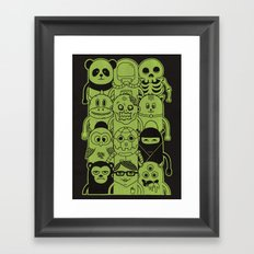 Famous Characters Framed Art Print