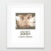 2001 Framed Art Prints featuring 2001 by cocksoupart