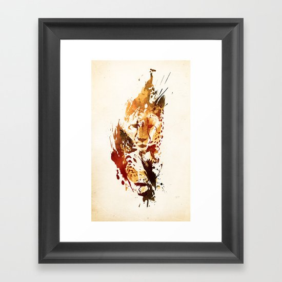 El Guepardo Framed Art Print