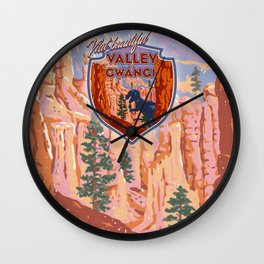 Visit Beautiful Valley of Gwangi Wall Clock
