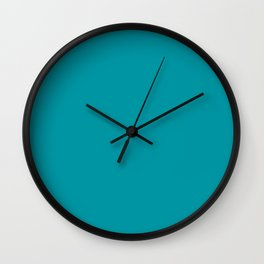 Turquoise Blue Teal | Solid Colour Wall Clock