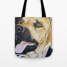 Mans Best Friend - Dog in Suit Tote Bag