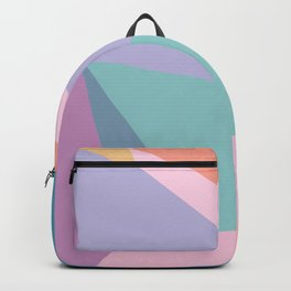 Fractured Triangles in Playful Color Backpack