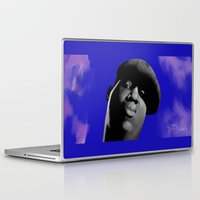 biggie smalls Laptop & iPad Skins featuring Biggie by DemarDouglas