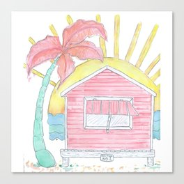 Beach Shack Vibes Canvas Print