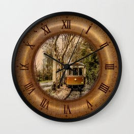 044 Wall Clock Sintra Portuguese beach of the apples tram Wall Clock