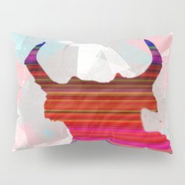 Mexican Bull Decoupage Pattern Abstract Art Pillow Sham