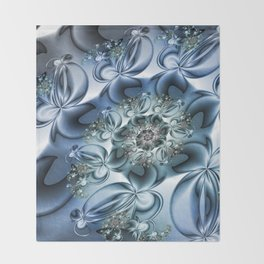 Dynamic Spiral, Abstract Fractal Art Throw Blanket