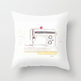 Vintage Kenmore 158.1760 Sewing Machine with Red Spool Throw Pillow