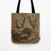 rhino Tote Bags featuring Rhino by Julia Kisselmann