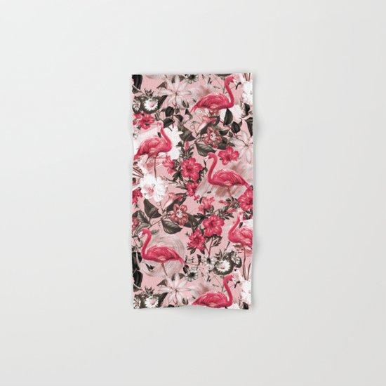 Floral and Flemingo III Pattern Hand & Bath Towel