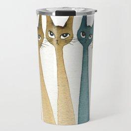 Roanoke Whimsical Cats Travel Mug