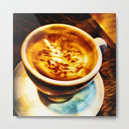 Coffee Espresso Metal Print
