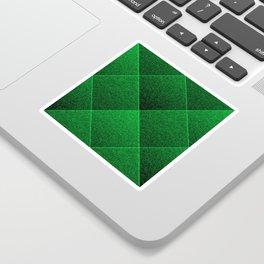 Plush Kelly Green Diamond Sticker