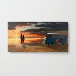 California surfing Metal Print