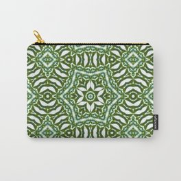 Palm Mandala (on white) #2 Carry-All Pouch