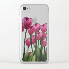 Field of Tulips Clear iPhone Case