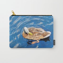 Making Waves While Preening Carry-All Pouch