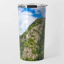 Carpathian Mountains View On Transfagarasan Road In Romania, Summer Landscape, Transylvania Mountain Travel Mug