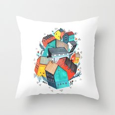 Tumble Town  Throw Pillow