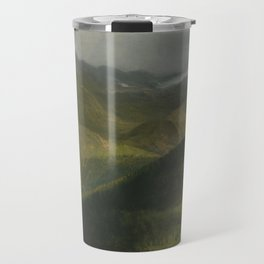 Albert Bierstadt, Mountain landscape Travel Mug