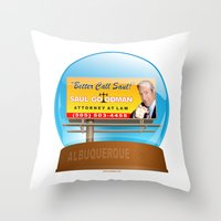 better call saul Throw Pillows featuring Better Call Saul! by tuditees