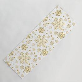 Golden snowflakes Yoga Mat