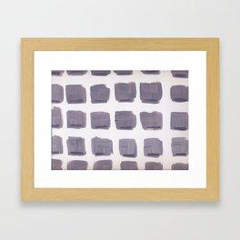 Purple Squares Framed Art Print