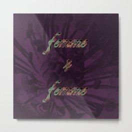 Femme 4 Femme II Metal Print