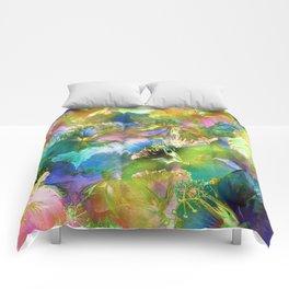 Hibiscus Trumpets #2 Comforters