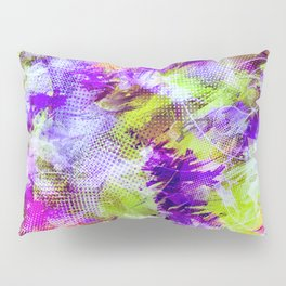 Potpourri in Purple and Lime Pillow Sham