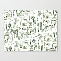 wallpaper Canvas Prints featuring Wallpaper by Bridie Cheeseman