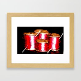 red spools Framed Art Print