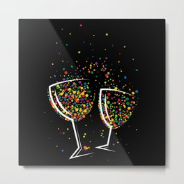 Happy colorful drink Metal Print