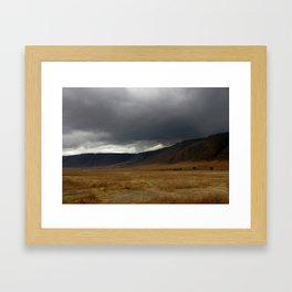 """Storm brewing"", Ngorongoro Crater, Tanzania Framed Art Print"